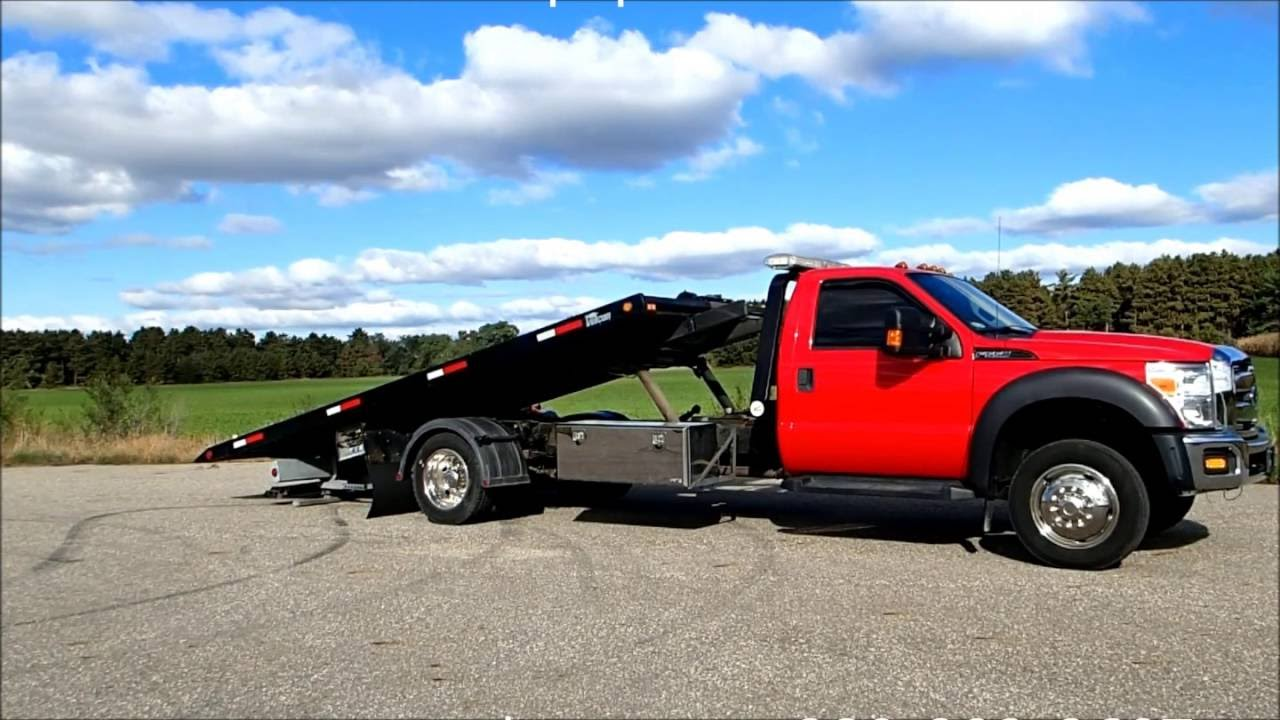 FORD F550 Super Duty with Vulcan Car Carrier Rollback Tow ...