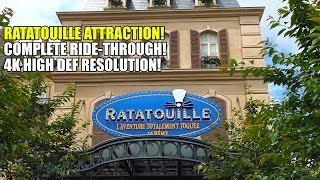 Ratatouille Attraction Complete Ride Through POV 4K Resolution Disneyland Paris
