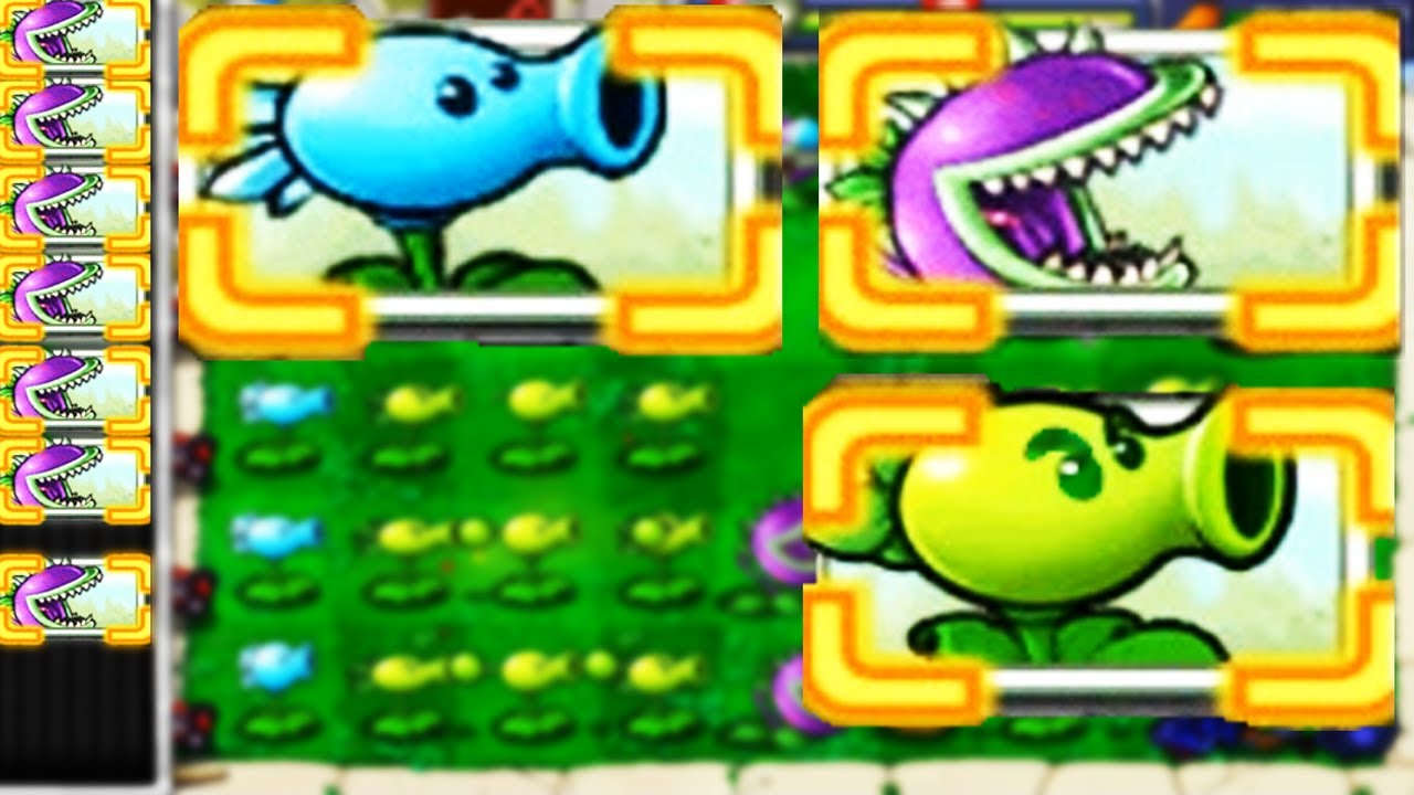 Best strategy Plants vs Zombies | Random Combo Repeater + Chomper + Snow Pea Defended