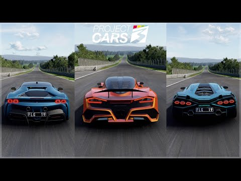 Project Cars 3 Fully Upgraded Hennessey Venom F5, Lamborghini Sian & Ferrari SF90 Gameplay!