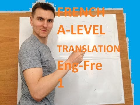 A-Level French translation homework 1)