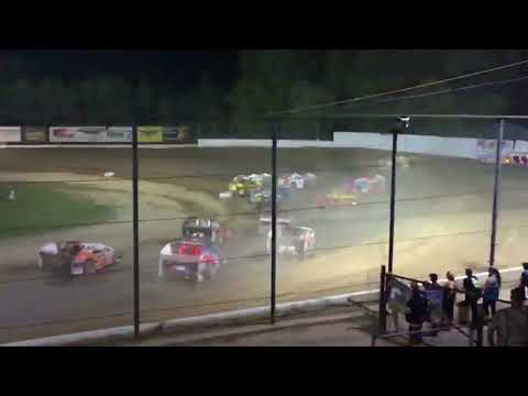 Slo-Mo Of The Modifieds In Turn 1 At Brewerton Speedway (2016)