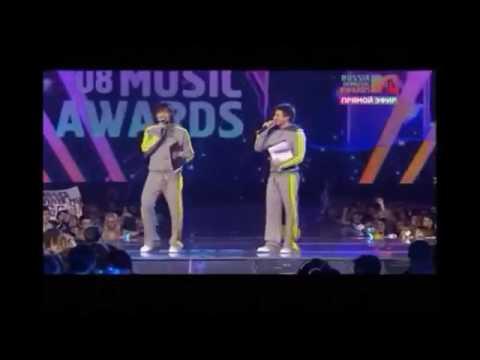 Дима Билан и Сергей Лазарев.Ведущие MTV RMA 2008/Sergey Lazarev Dima Bilan