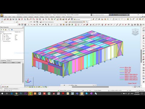 Robot Structural 2021   Designing and Analysis of Steel & RCC Structures (Part 2-3)