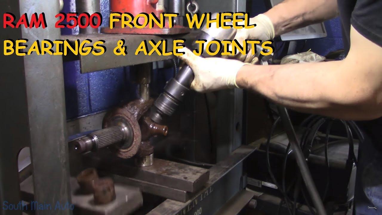 Dodge Ram 2500/3500: Front Wheel Bearings & U-Joints - Part I