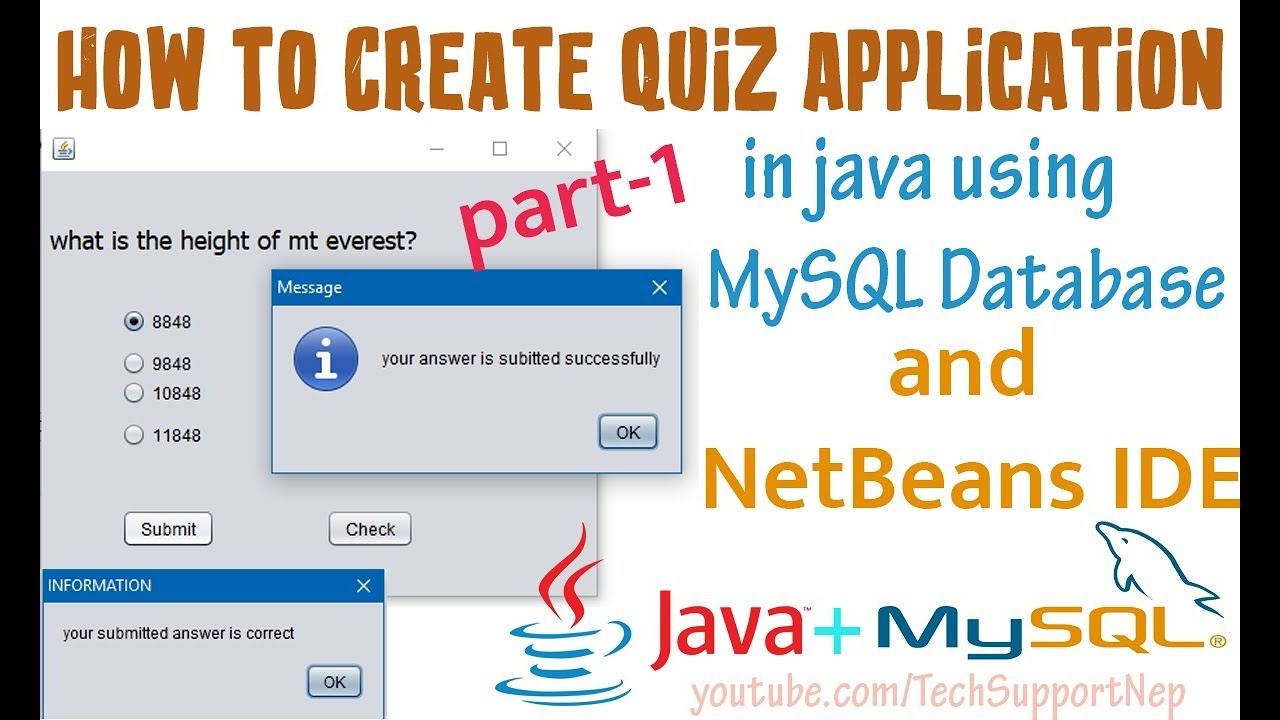How to Create Quiz Application in Java Using MySQL Database and
