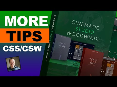 Cinematic Studio Strings and Woodwinds - More Tips