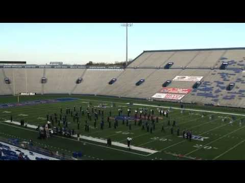 Enid High School Big Blue Band performance at the Heart of America 2014 Marching Festival