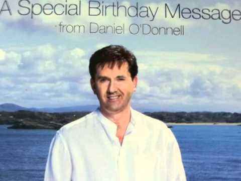 20101221 Daniel Odonnell Singing Birthday Card Youtube