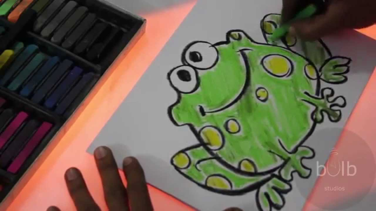 Scribble Drawing For Kids : How to draw a frog scribble for kids youtube