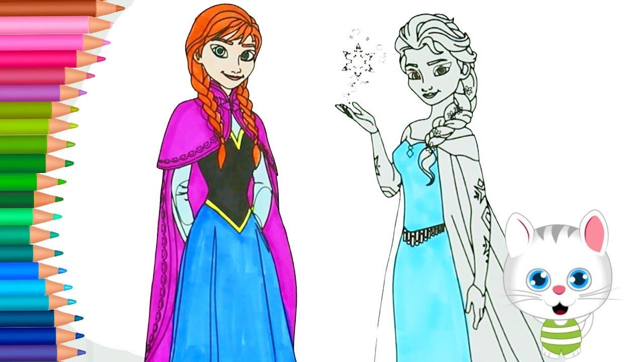 Frozen Princesa Elsa Y Anna Dibujos Para Colorear Dibujos Para