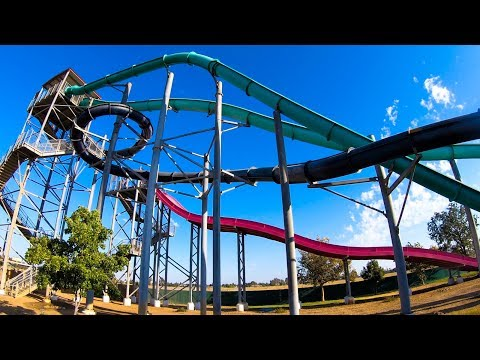 Thrills Of Fiji Blue Slide - Island Water Park - Fresno, CA
