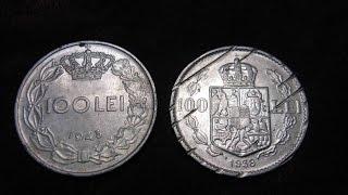 Монеты 100 LEI 1938 Carol II +  100 LEI 1943 Mihai I Romania занимательная нумизматика Румыния