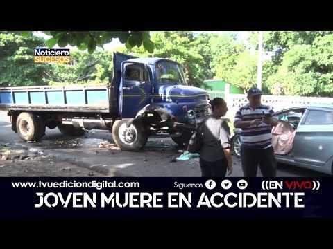 Accidente dejo un joven fallecido