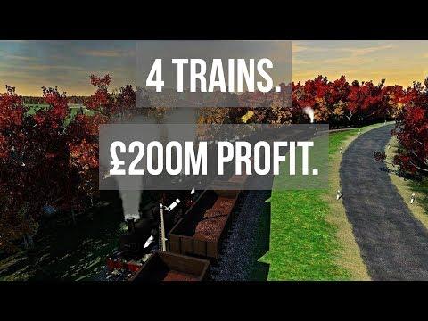 4 Trains. £200M Profit. | Transport Fever | 6K UK Gameplay #61