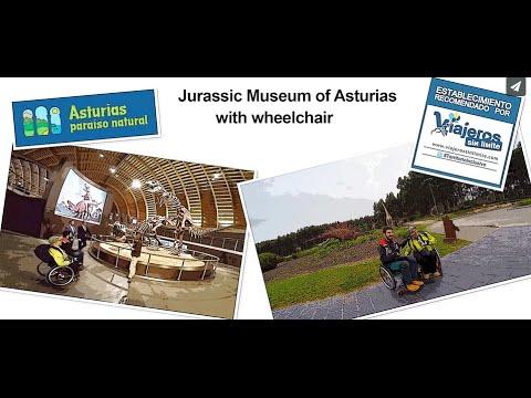 Museo Jurásico de Asturias con silla de ruedas