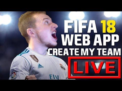 FUT 18 WEB APP ! CREATE MY TEAM ⚽ (LIVE)