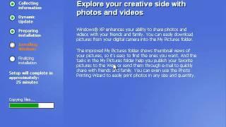 Windows XP Installation Setup Part 2