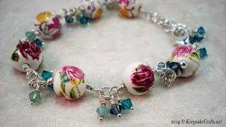 How to Make a Bead and Swarovski Crystal Bracelet(, 2014-04-24T18:00:51.000Z)