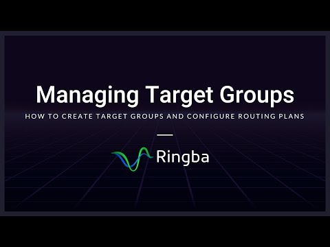 Target Groups | Ringba Call Tracking & Analytics