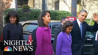 President Obama declined to speak at his eldest daughter's graduation, joking earlier this year that he would be wearing sunglasses to hide his tears.