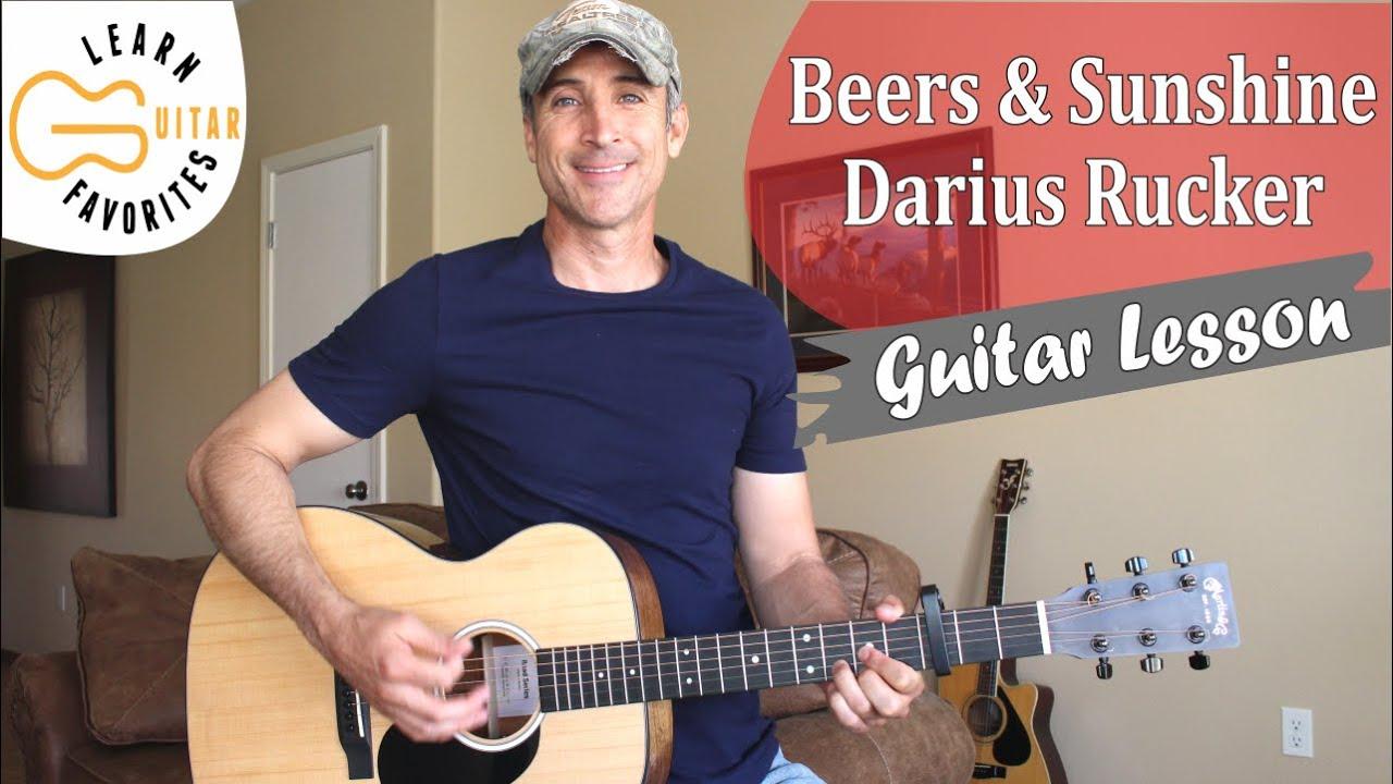 Beers And Sunshine - Darius Rucker - Guitar Lesson | Tutorial