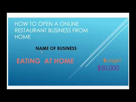 BUSINESS TUTORIAL FOR ONLINE RESTAURANT YOU CAN DO ONLINE FULL DETAILS,  part1 thumbnail