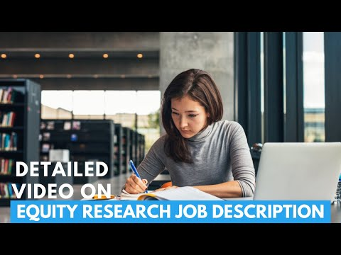 What is Equity Research - Equity Research Jobs, Salary, Job Responsibility