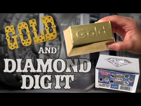 GOLD and DIAMOND DIG IT - We're MINING for TREASURE!