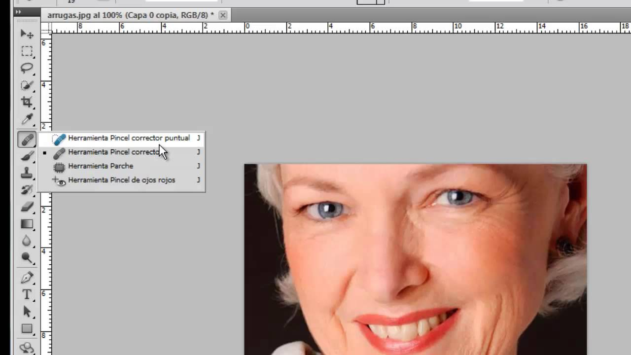 Como Quitar Las Arrugas Con Photoshop Cs5 Youtube