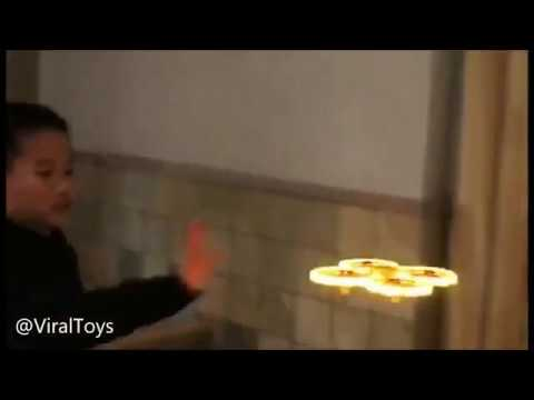 COOL VIRAL TOY RC SMART DRONE GESTURE 1 HAND motion LED Light INTELLIGENT Infrared Obstacle UAV
