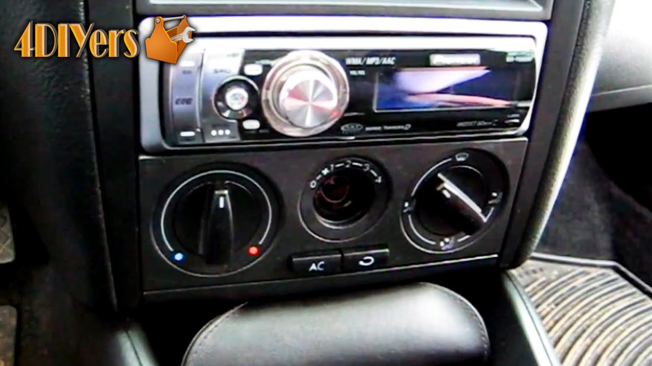 wiring diagram of car air conditioner 2016 dodge dart speaker diy: volkswagen mkiv hvac light bulb replacement - youtube