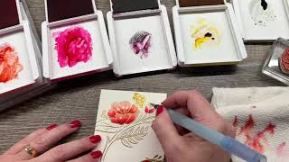 Tips on Watercoloring Heat Embossed Floral Images
