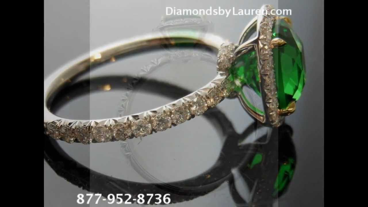 tsavorite in diamonds zahm tw green garnet yellow with rings ring gold philip