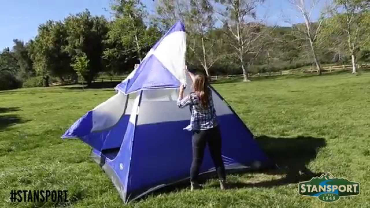 Stansport How-To Set up any of our 2-Pole Dome Tents & Stansport How-To: Set up any of our 2-Pole Dome Tents - YouTube