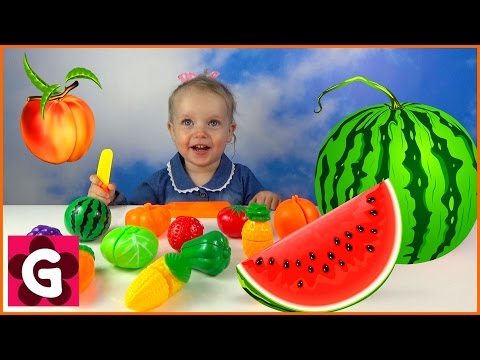 Thumbnail: VELCRO FOOD TOY Learn Names of Fruits and Vegetables Best Learning Video For Kids Cutting Food