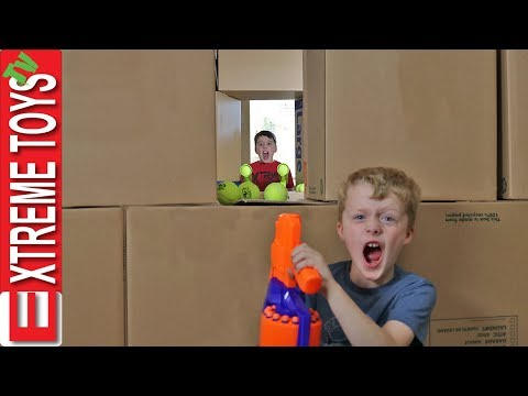 attack-the-castle!-ethan-vs.-cole-nerf-box-fort-battle!-part-2