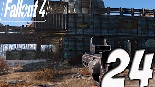 Fallout 4 Gameplay | Part 24 - MODDING MY WEAPON!! BUILDING THE TELEPORTER