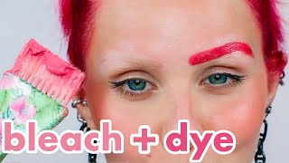 Bleaching and Dyeing my Eyebrows HOT PINK