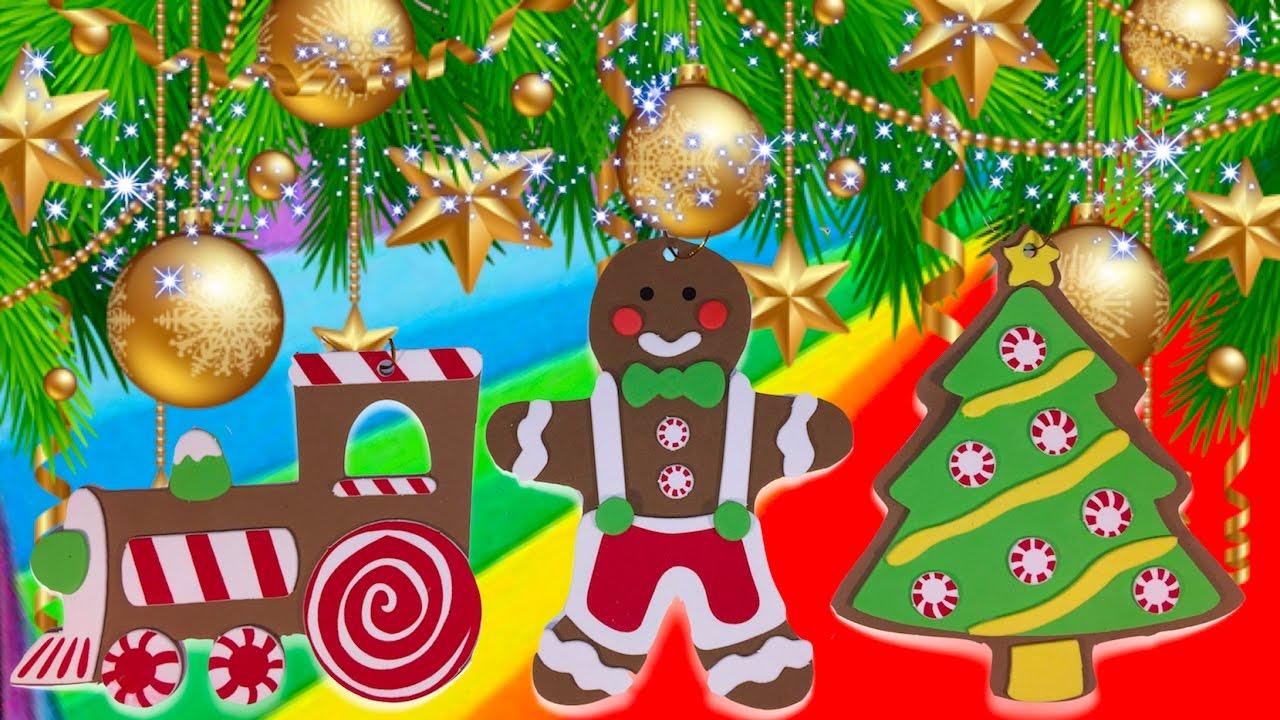 diy how to create gingerbread christmas tree ornament 2 gingerbread man christmas tree train - Gingerbread Christmas Tree