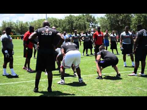Orlando NFTC Offensive/Defensive line one-on-ones