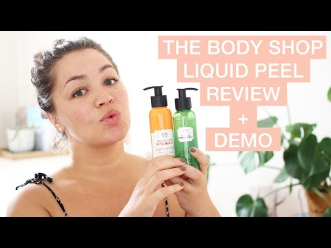 THE BODY SHOP LIQUID PEEL REVIEW & DEMO    |     Le