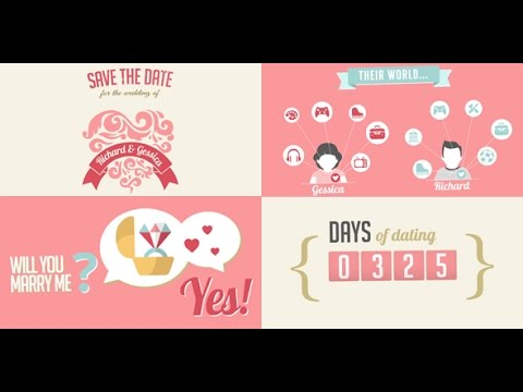 Video Wedding Invitation  Save the Date - After Effects Template - free wedding save the dates