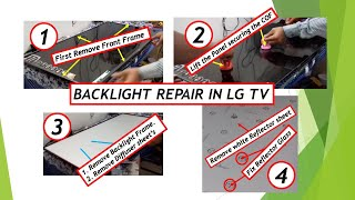 HOW TO REPAIR WHITE SPOT IN LG 42LH6200 LED TV BACKLIGHT ISSUE BY VINOD KENNY