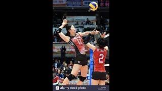 Best middle blocker Erika Araki l Volleyball Japan