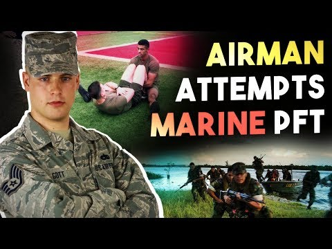 AIRMAN DOES MARINE PFT   Can he handle it??