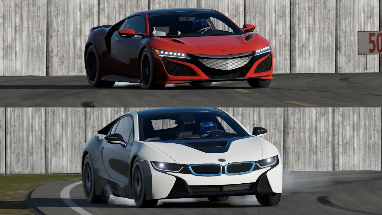 New Acura Nsx Vs Bmw I8 On Top Gear Track Youtube