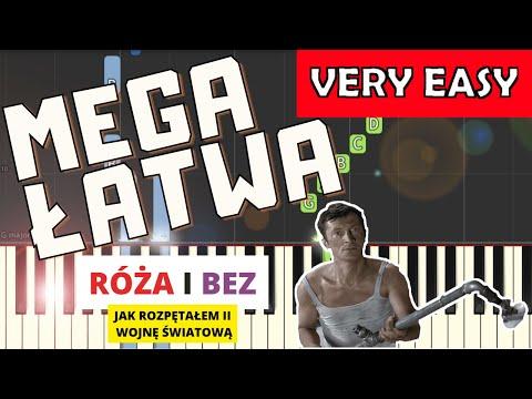 🎹 Róża i bez (Jak rozpętałem II wojnę światową, Matuszkiewicz) -Piano Tutorial (MEGA ŁATWA wersja) 🎹