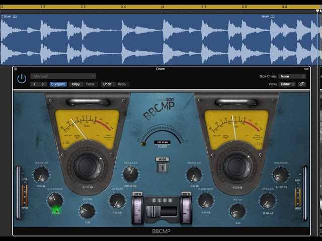 BBCMP Compressor on jazz drum