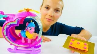Видео для детей. Аня и Пинки Пай делают торт
